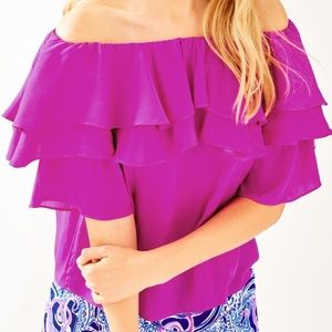 Lilly Pulitzer Haylee Top NWT XXS